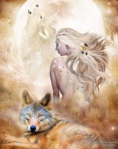 Story Art - Wolf Moon Goddess