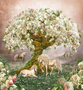 Story Art - Unicorn Rose Tree