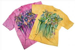 Butterfly Bloomie Art On Tee Shirt